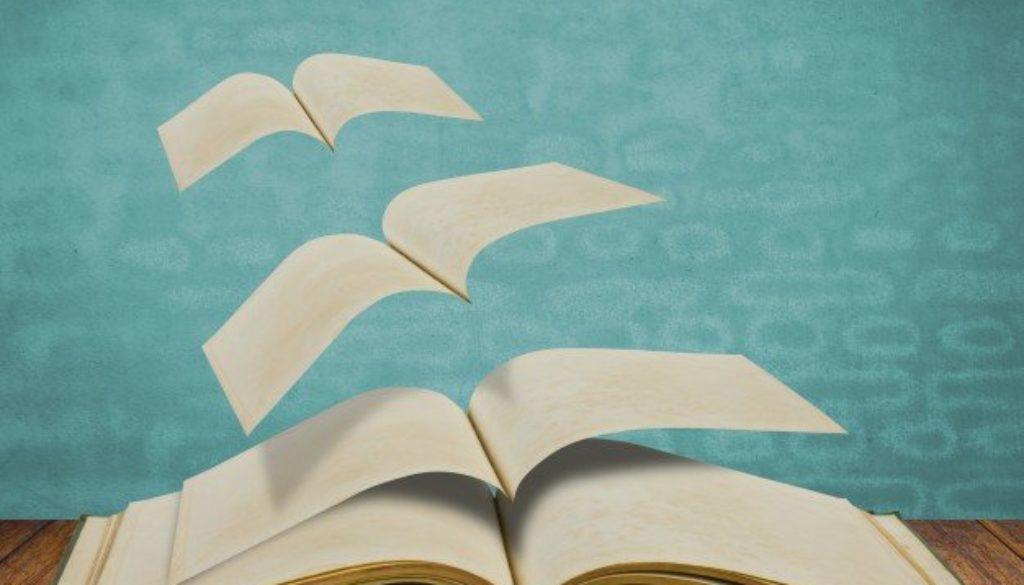 Imagem de um livro para promover o dia do livro.