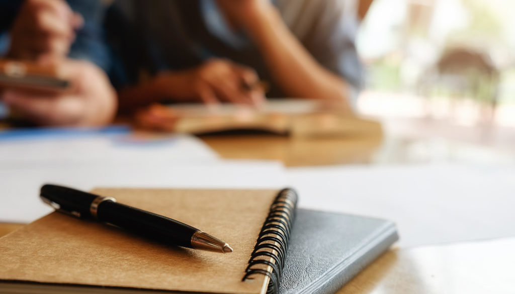Education concept. Student studying and brainstorming campus con