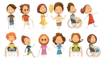 Alunos com necessidades especiais promovendo a inclusão escolar.