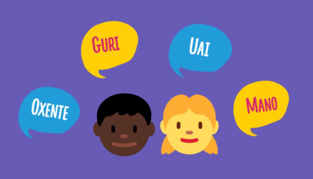 Alunos usando termos contra o preconceito linguístico nas escolas